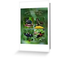 Babies Are Butterflies in the Garden of Life Greeting Card