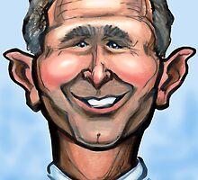President Bush Caricature by Kevin Middleton