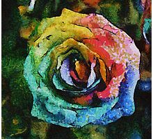 Rainbow Rose painting Photographic Print