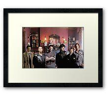 SuperWhoLock Team Framed Print