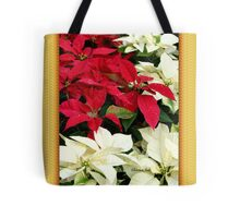 Poinsettias Sprinkled with Raindrops Tote Bag