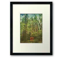 Shinto Shrine Deep In the Forest Framed Print