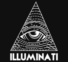 Illuminati White - All Seeing Eye - Font Kids Clothes