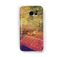 Wooden Gazebo and Small Shed in Forest Samsung Galaxy Case/Skin