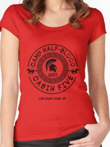 Percy Jackson - Camp Half-Blood - Cabin Five - Ares Women's Fitted Scoop T-Shirt