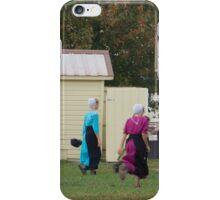 Amish children iPhone Case/Skin