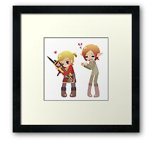 Dragon Age - Varric and his True Love Framed Print