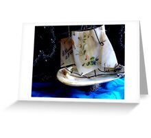"""Sail Away in Mother-of-Pearl. .."" Greeting Card"