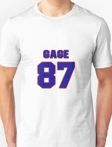 National football player Justin Gage jersey 87 T-Shirt