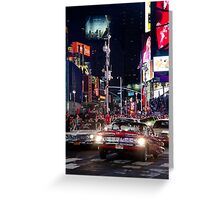 Vintage Time Square Greeting Card