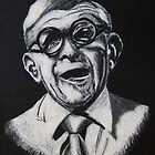 George Burns Portrait Illustration by Flux