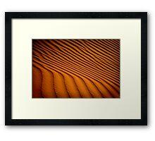 Dune Pattern Framed Print