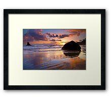 Indian Beach Sunset Framed Print