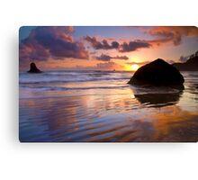 Indian Beach Sunset Canvas Print