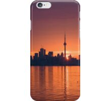 Bright and Orange Toronto Sunrise iPhone Case/Skin