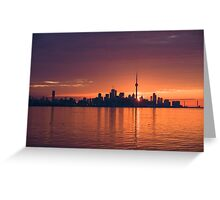 Bright and Orange Toronto Sunrise Greeting Card