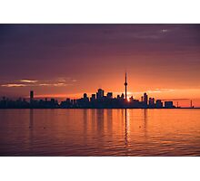 Bright and Orange Toronto Sunrise Photographic Print