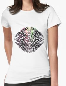 faded flowers Womens Fitted T-Shirt
