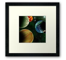 All the Worlds a Stage Framed Print