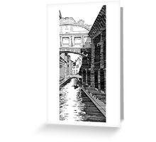 Bridge of Sighs (line) Greeting Card