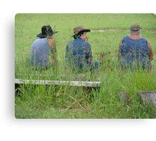 three farmers Canvas Print