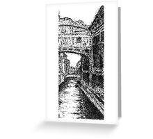 Bridge of Sighs (scribble) Greeting Card