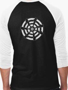 Mandala 30 Simply White Men's Baseball ¾ T-Shirt