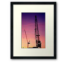 Cranes Framed Print