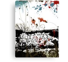 My First Graffiti 2008© Canvas Print