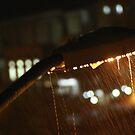Street flashlight in the rain by Moshe Cohen