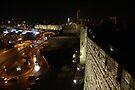 Jerusalem walls at night by Moshe Cohen