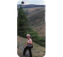 Marj about to go alone on Skiddaw Lake District England 198405240012 iPhone Case/Skin