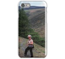 Marj about to go alone on Skiddaw Lake District England 19840524 0012 iPhone Case/Skin