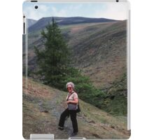Marj about to go alone on Skiddaw Lake District England 19840524 0012 iPad Case/Skin
