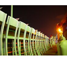 Outdoors beach pub chairs at night Photographic Print