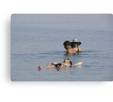 Dead Sea Bathing Canvas Print