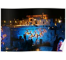 Castle of David special lights Poster