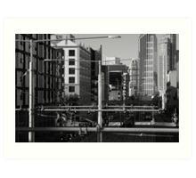 Melbourne Morning Streetscape Number 2 Art Print