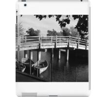 Rowing boats in Constable Country in black and white iPad Case/Skin