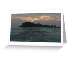 L'île inconnue / The island unknown Greeting Card