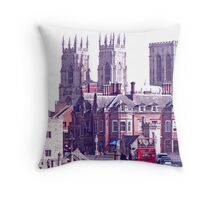 A Red Bus Going To The Minster Throw Pillow