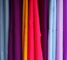 colored fabrics by Giuseppe Moscarda