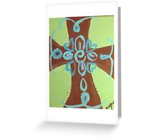 Curved Edged Cross Greeting Card