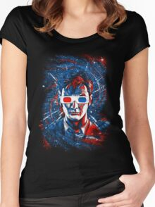 Doctor 10 3D Women's Fitted Scoop T-Shirt