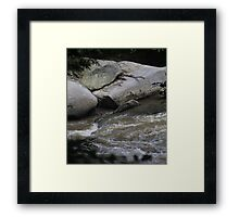 HDR Composite - Looking down on River Rapids Framed Print