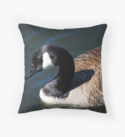 Canadian Goose Close Up Throw Pillow