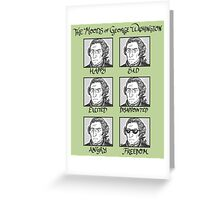 The Moods of George Washington Greeting Card
