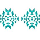 Triangle pattern in teal by Penny Marcus