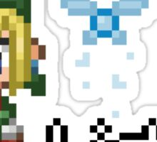 Pixel Link & Navi - Ocarina of Time Sticker