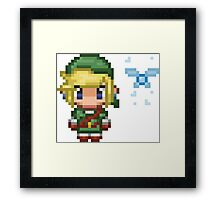 Pixel Link & Navi - Ocarina of Time (without text) Framed Print
